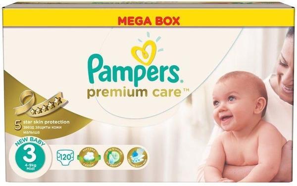 Pampers Памперс пелени  Premium Care MB Мidi р-р 3 /5-9кг/ 120 бр.  0202346